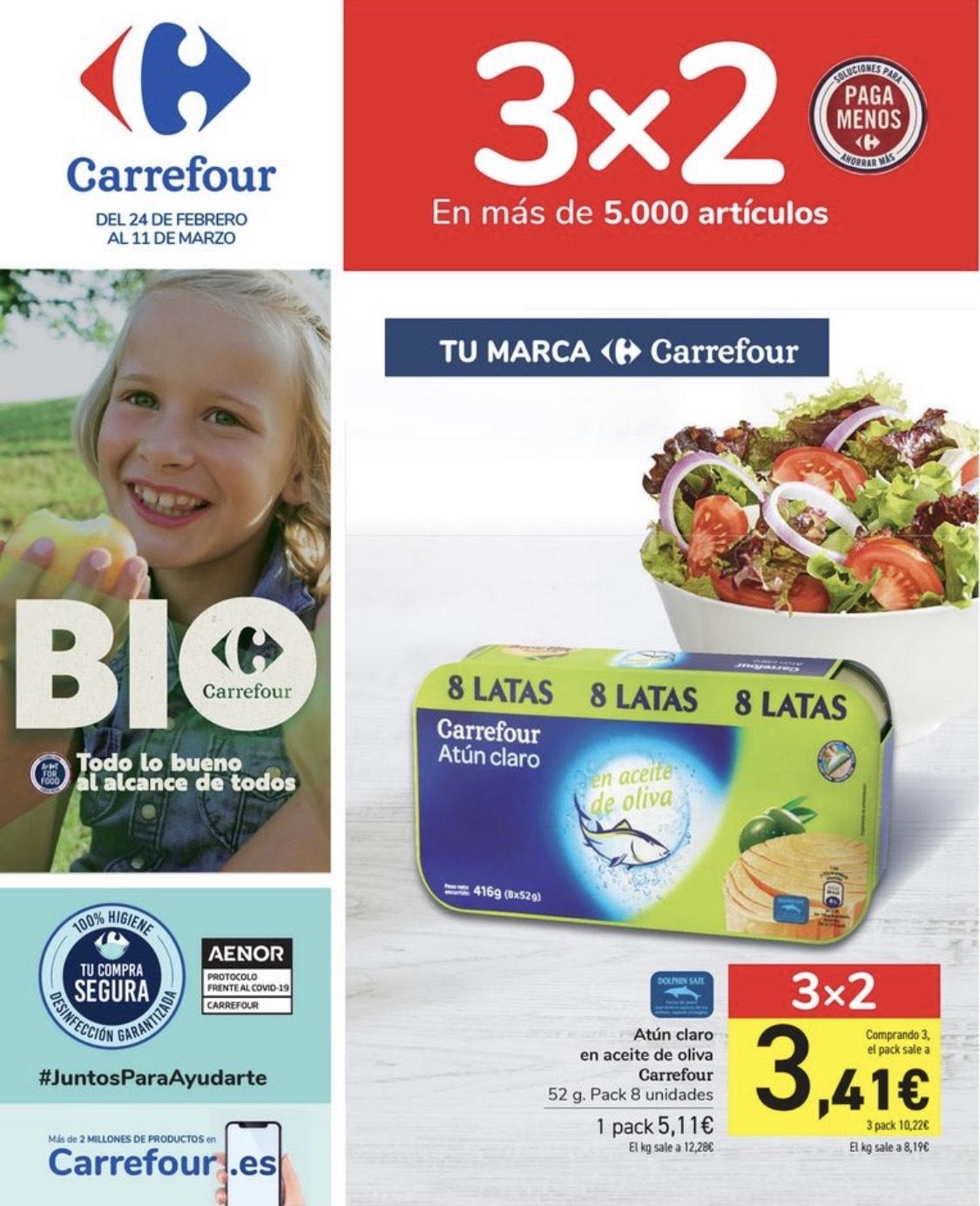 Promoción Carrefour 3 x 2 + 50 = (?)