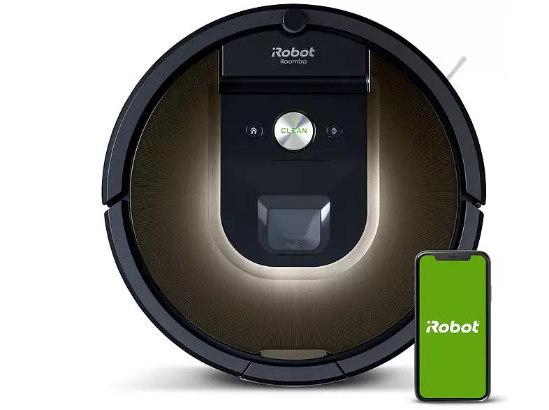 iRobot Roomba 980, Wifi, Aumento de succión, Limpieza por habitaciones, Limpieza en 3 fases