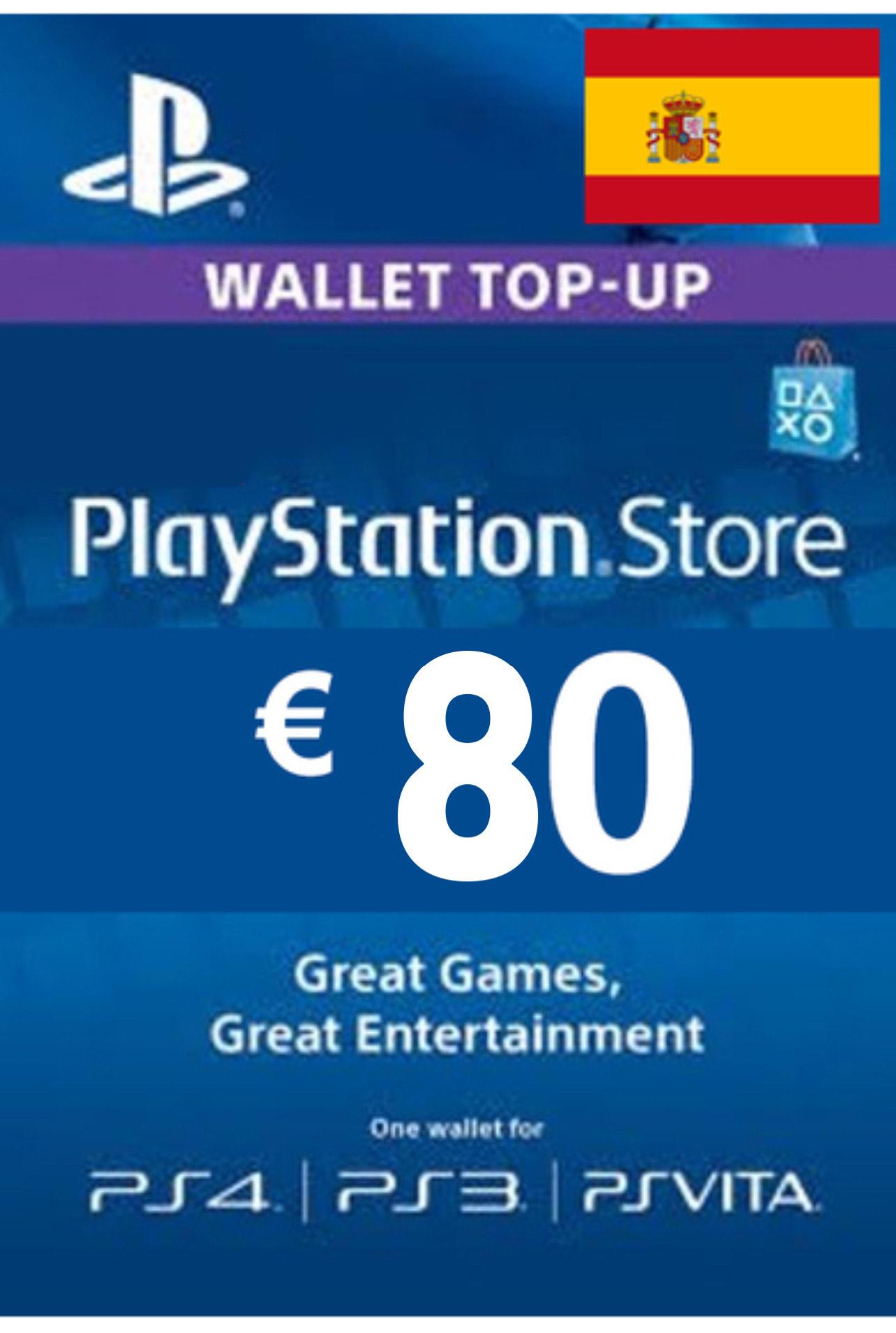 80€ por 62,50€ para PSN (dos cuentas)