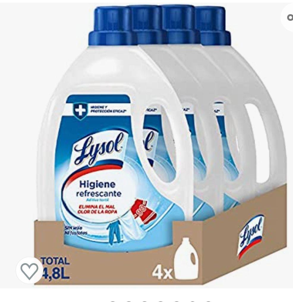 Lysol - Higienizante textil para la ropa, elimina olores - pack de 4 x 1.2 L - Total 4.8 L