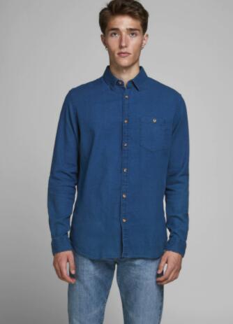 Camisas vaqueras hombre desde 9,99€. JACK & JONES.