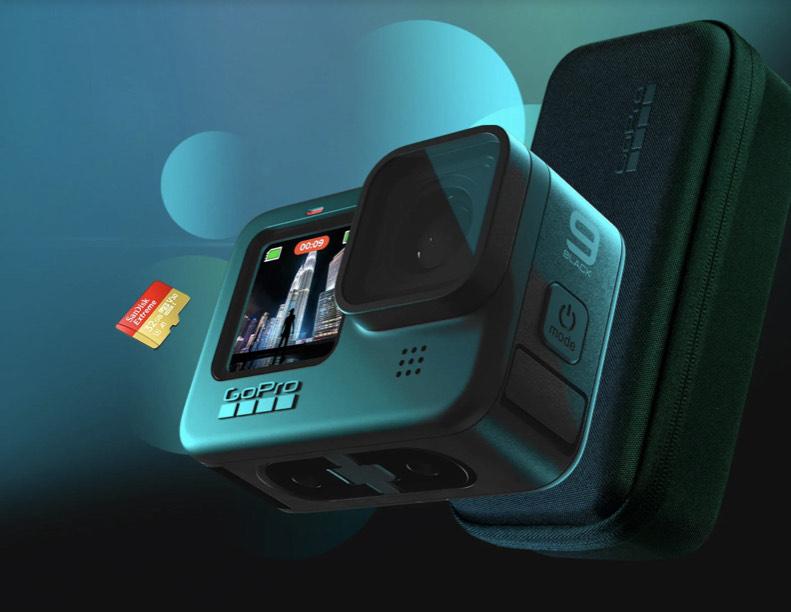 Pack GoPro HERO 9 + tarjeta de 32 Gb + suscripción 1 año GoPro + estuche