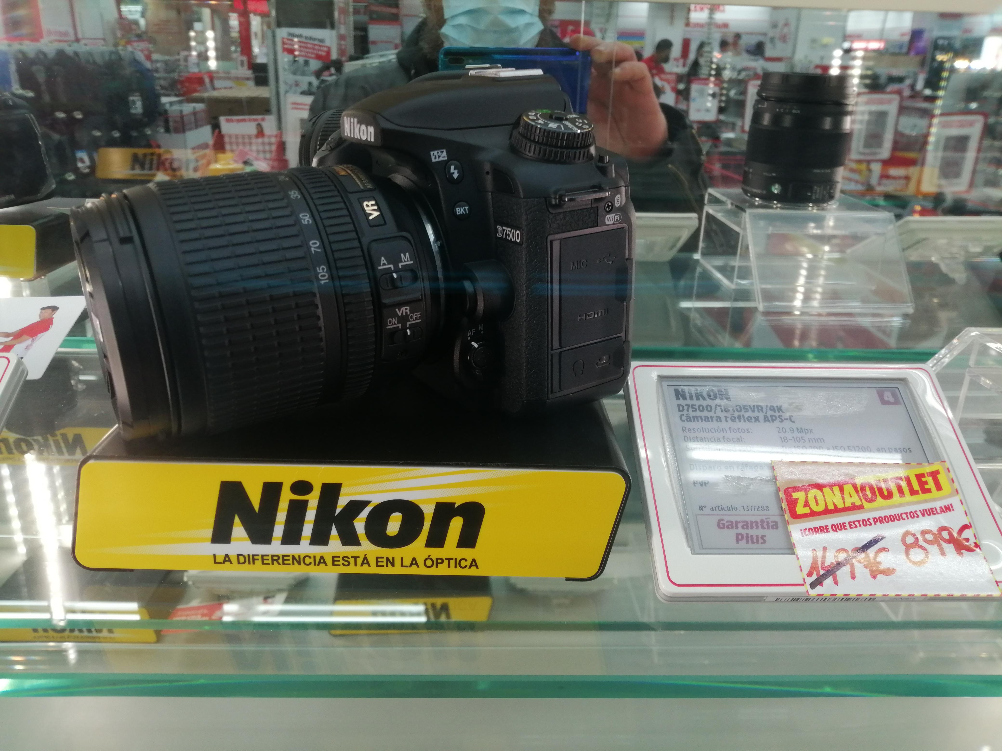 Nikon D7500 + Lente 18-105mm (Madrid - Mediamarkt Castellana200)