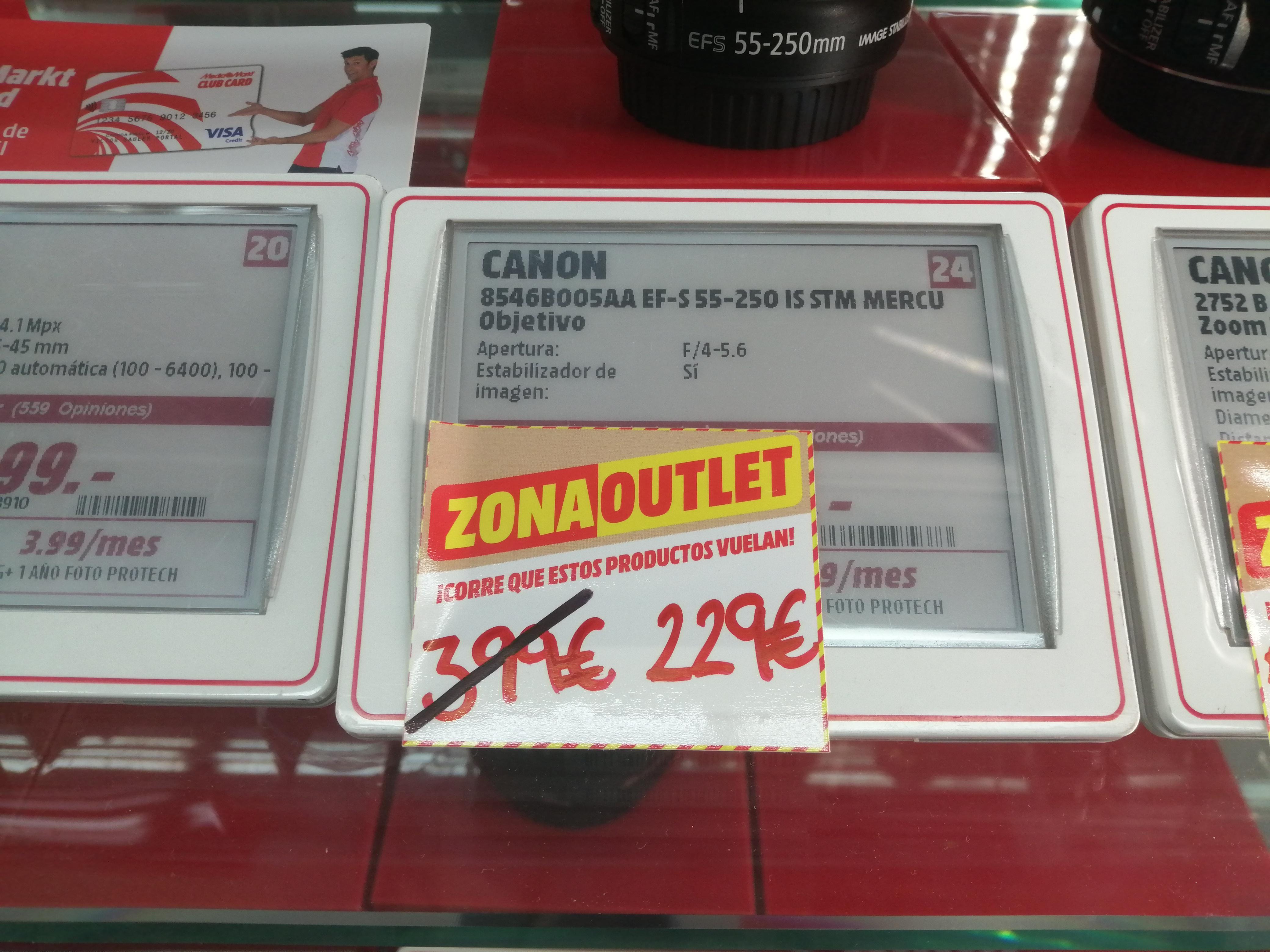 Canon EF-S 55-250mm (Madrid - Mediamarkt Castellana200)