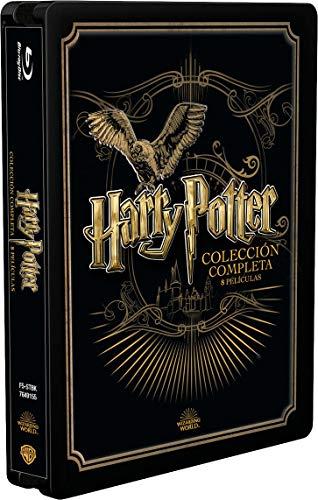 Pack Harry Potter - Colección Completa Golden Stealbook [Blu-ray]