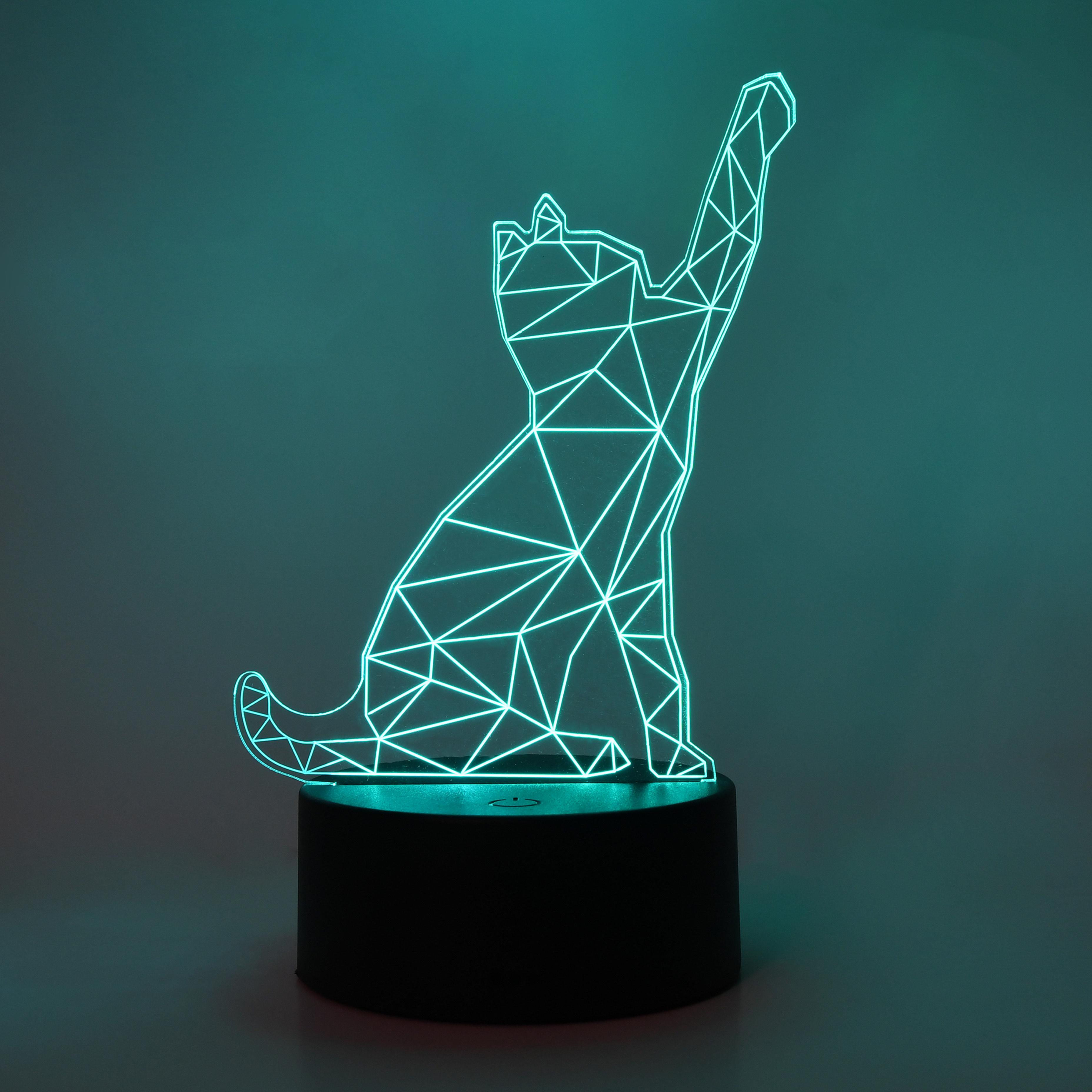 Lámparas efecto 3D, 8 diseños diferentes