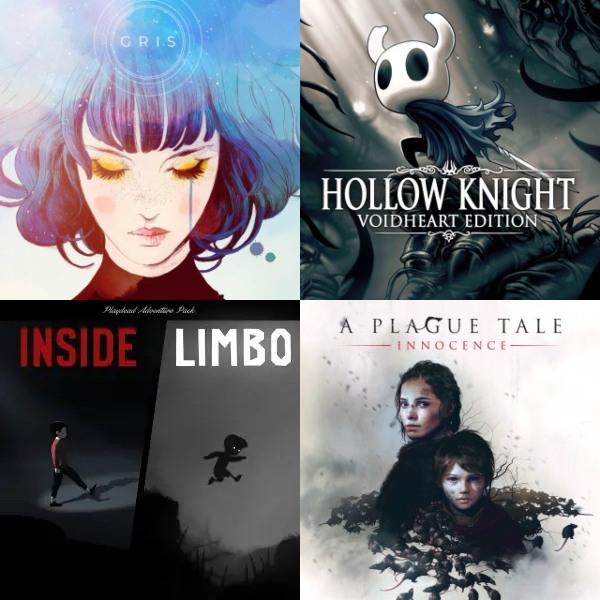 LIMBO & INSIDE Bundle, GRIS, A Plague Tale: Innocence, Hollow Knight, Little Nightmares CE #PlayStation