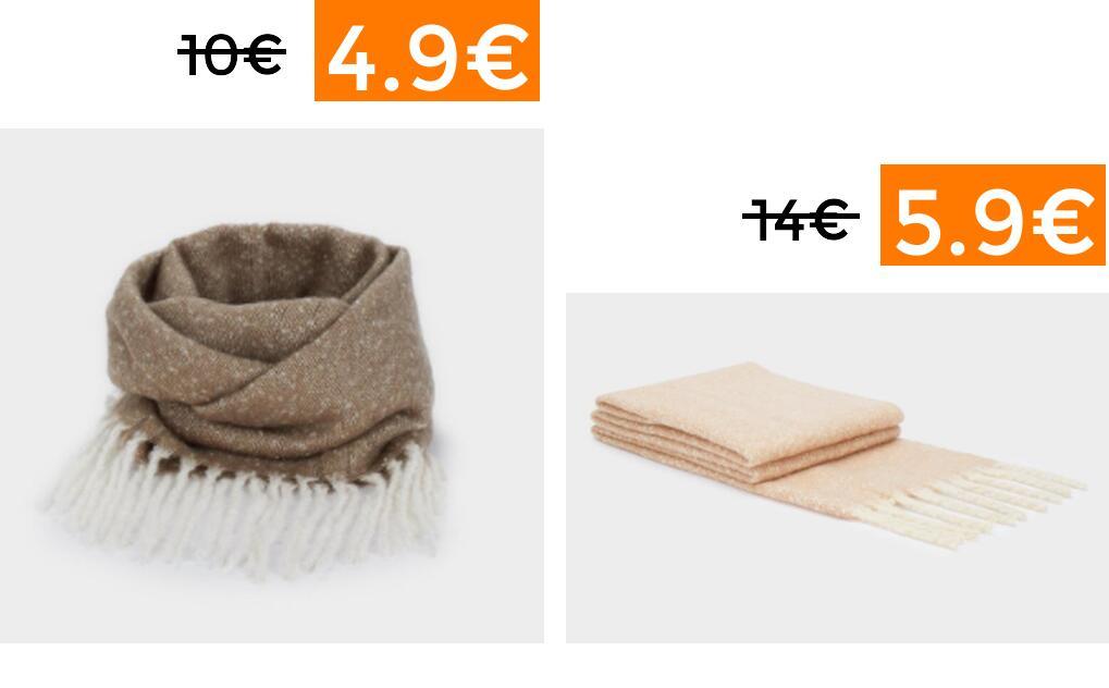 Selección bufandas y cuellos Parfois desde 4.9€