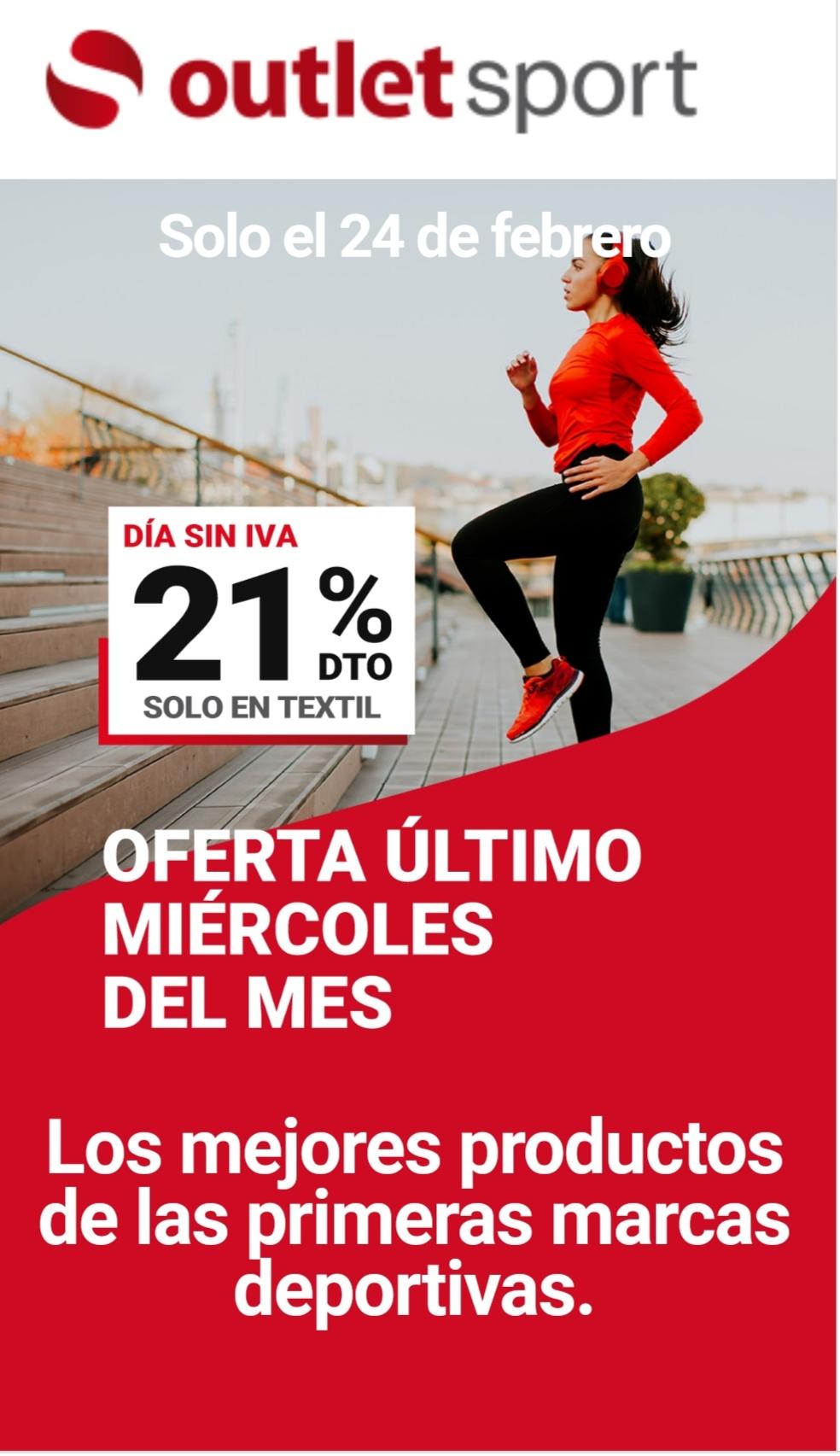 21% en Textil - OutletSport