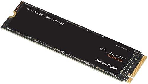 WD BLACK SSD SN850 de 2 TB SSD interna para juegos, tecnología PCIe Gen. 4, velocidades de lectura de hasta 7000 MB/s, M.2 2280