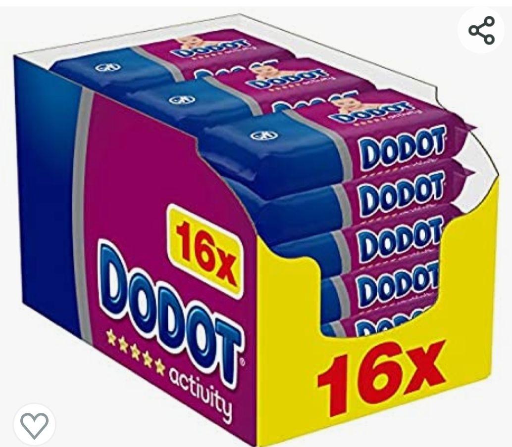 Dodot Activity Toallitas para Bebé 16 Paquetes de 54 Unidades, 864 Toallitas Con compra recurrente 20,33€