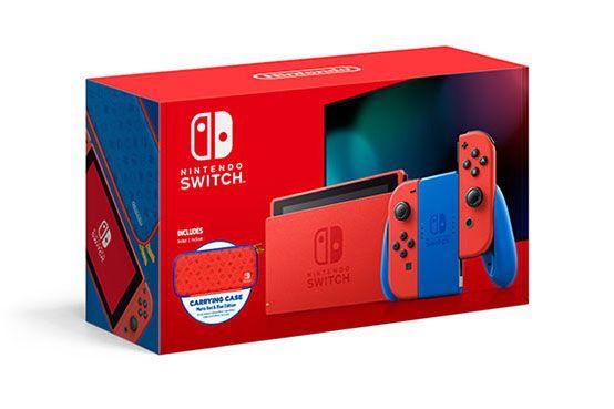 """Nintendo Switch Modelo 2019 (Ed. Mario), 6.2"""", Joy-Con, Azul y Rojo en Mediamarkt"""
