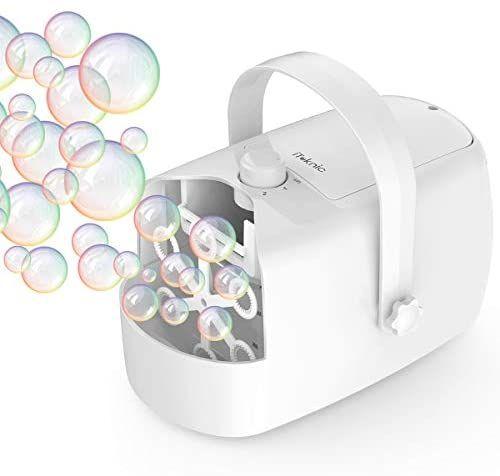 Máquina de hacer burbujas. Hay que señalar el código cupón