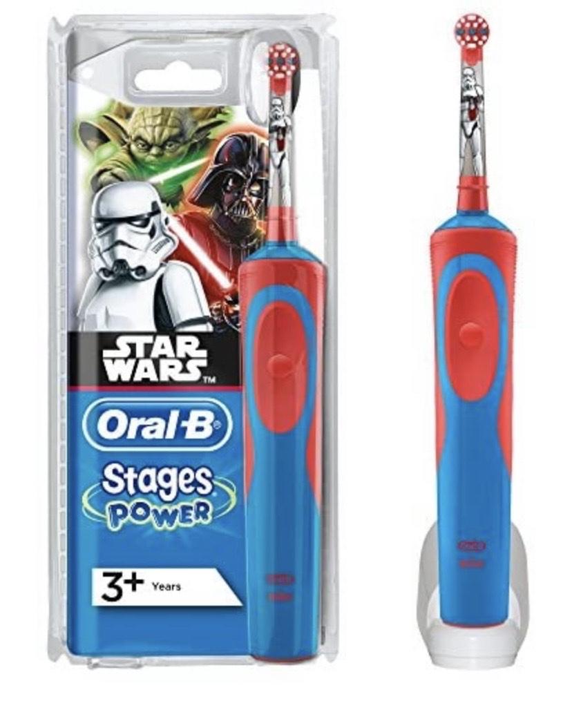 Oral-B D12 Star Wars - Cepillo dental oscilante, color azul y rojo