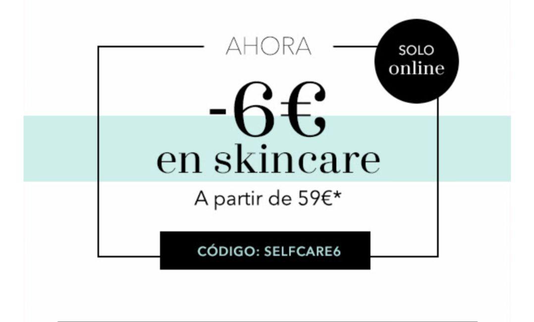 -6€ skincare DOUGLAS a partir de 59€