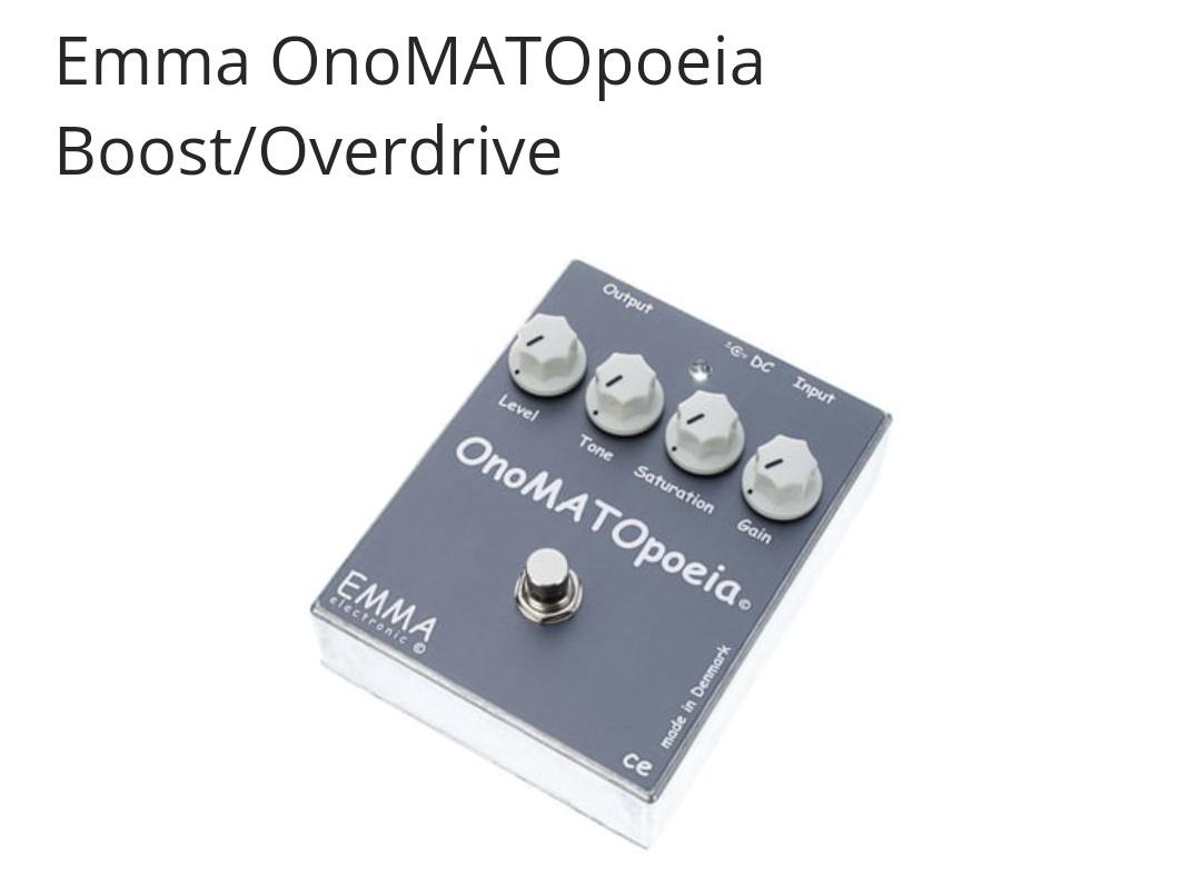 Pedal overdrive ONOmatopoeia