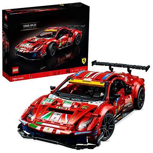 "LEGO 42125 Technic Ferrari 488 GTE ""AF Corse #51"", Modelo de Coche de Carreras Exclusivo"
