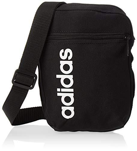 Bolso Adidas , Unisex adulto, black/black/white,