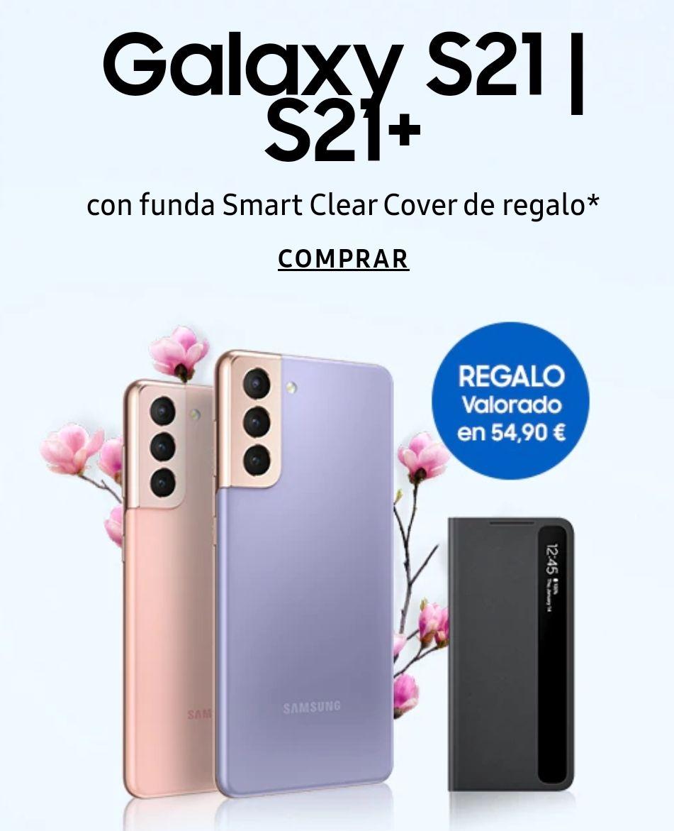 Galaxy S21 5G + Smart Clear Cover de regalo (Solo para quienes tengan cuenta de estudiantes)