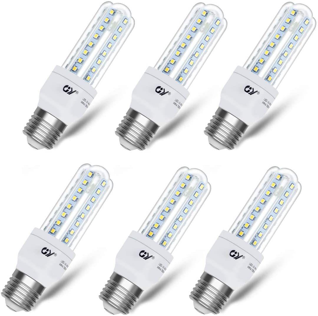 6 unidades GY Bombilla de LED maíz brillante E27, equivalente a 100 vatios
