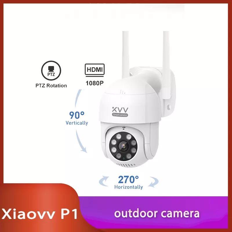 Xiaovv-Cámara de acción P1 IP, IP65, infrarroja, 8 visión nocturna, rotación, imagen HD de 1080P,