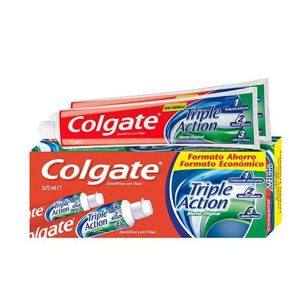 Pack 2UD pasta dentífrica Colgate Triple Acción