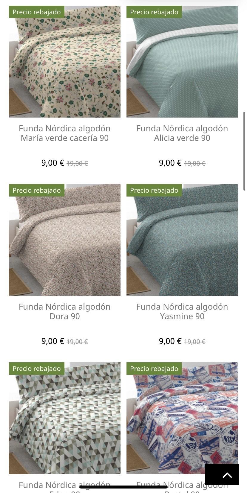Fundas nórdicas cama 90 cm a 9€!