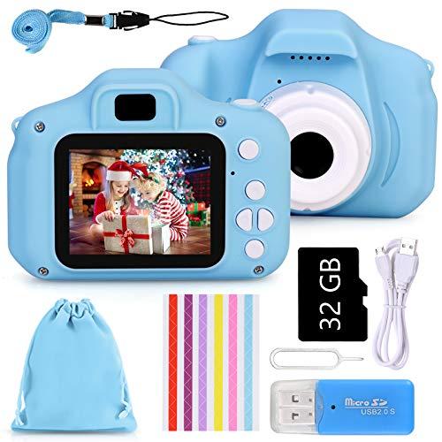 Cámara de Fotos Digital Infantil con Tarjeta de Memoria Micro SD 32GB, 1080P