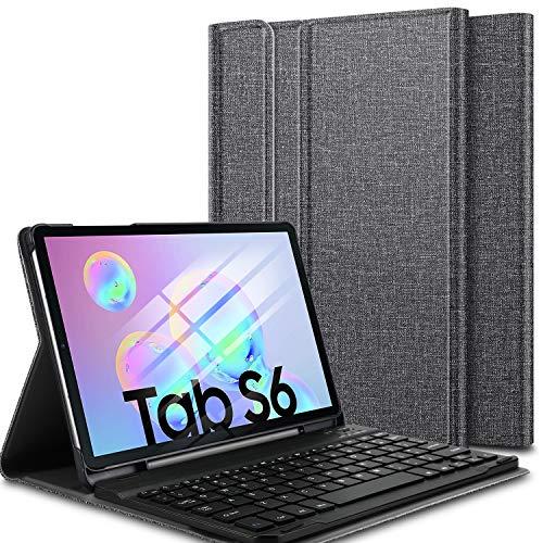 Funda con teclado para Samsung Tab S6 (sin ñ)