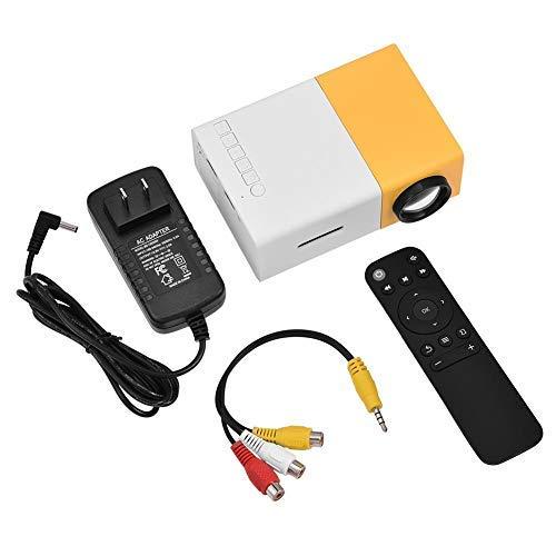 Proyector de cine en casa Zerone HD 1080P, mini proyector LED portátil