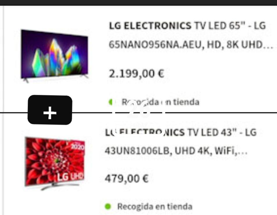 """TV LED 65"""" - LG 65NANO956NA.AEU, HD, 8K UHD + TV LED 43"""" - LG 43UN81006LB, UHD 4K, WiFi"""