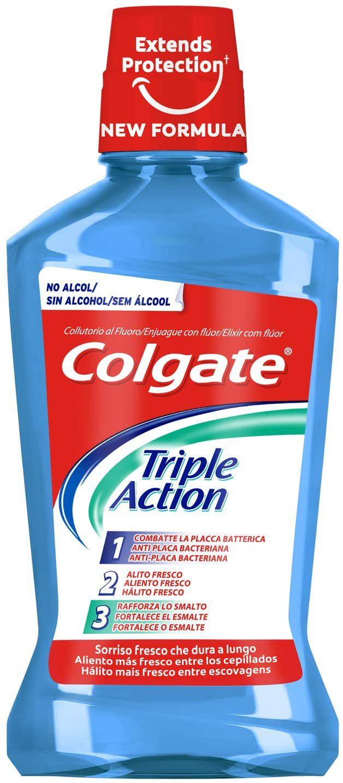 Enjuague bucal Colgate Triple Action, 3x500ml, total 1500ml