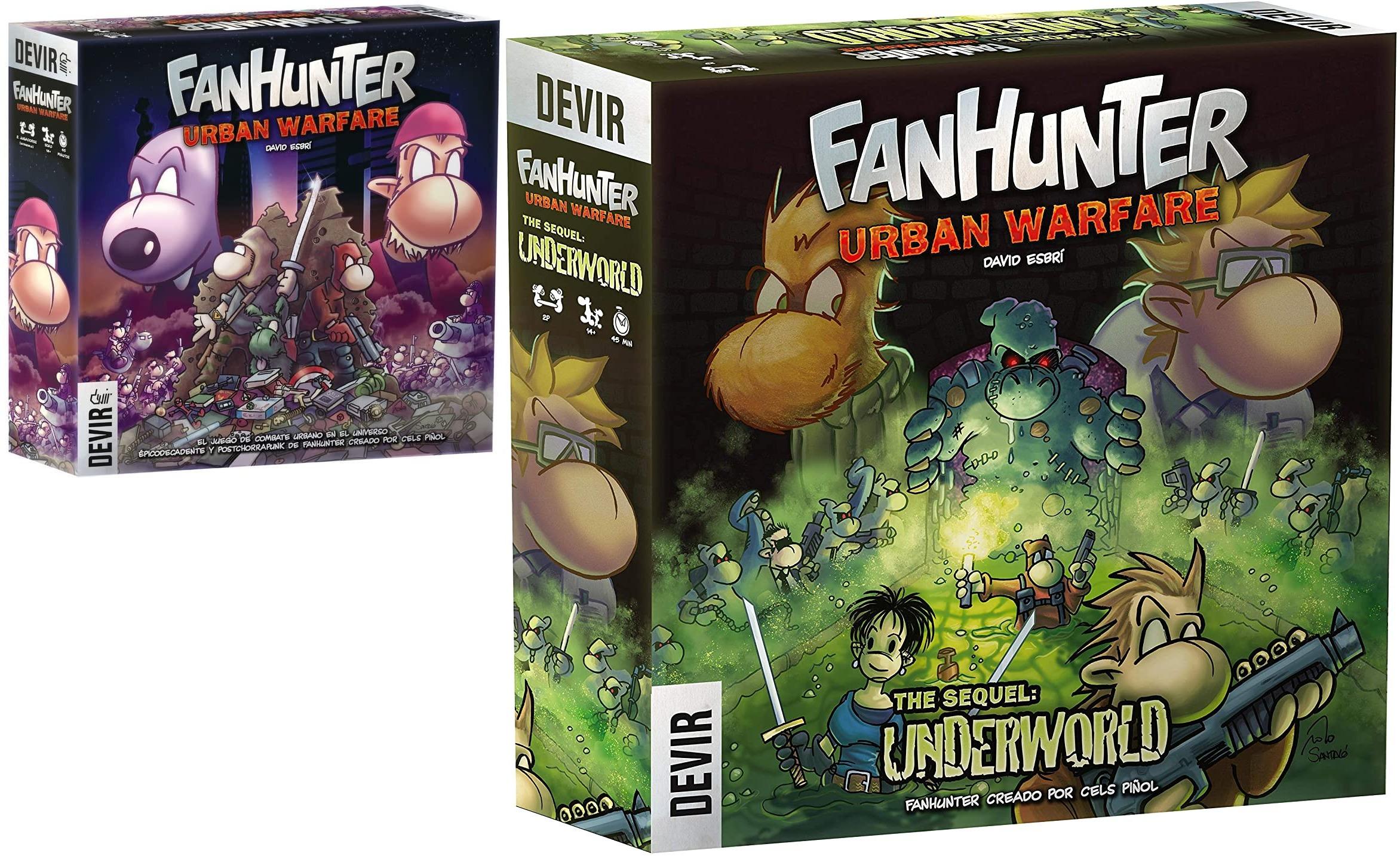 Fanhunter: Urban Warfare 1 y 2 (Ambas partes en oferta) - Juego de Mesa