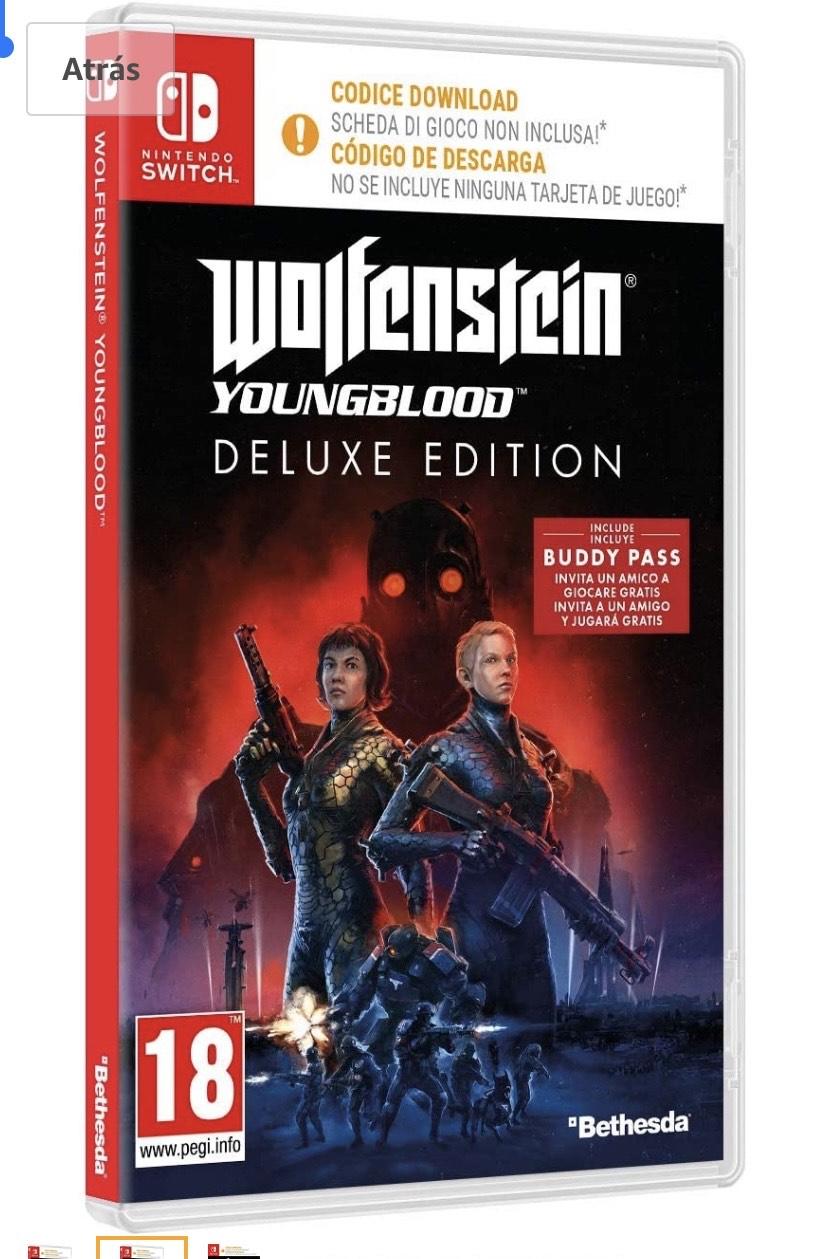 Wolfenstein Youngblood - Edición Deluxe Nintendo Switch(código )