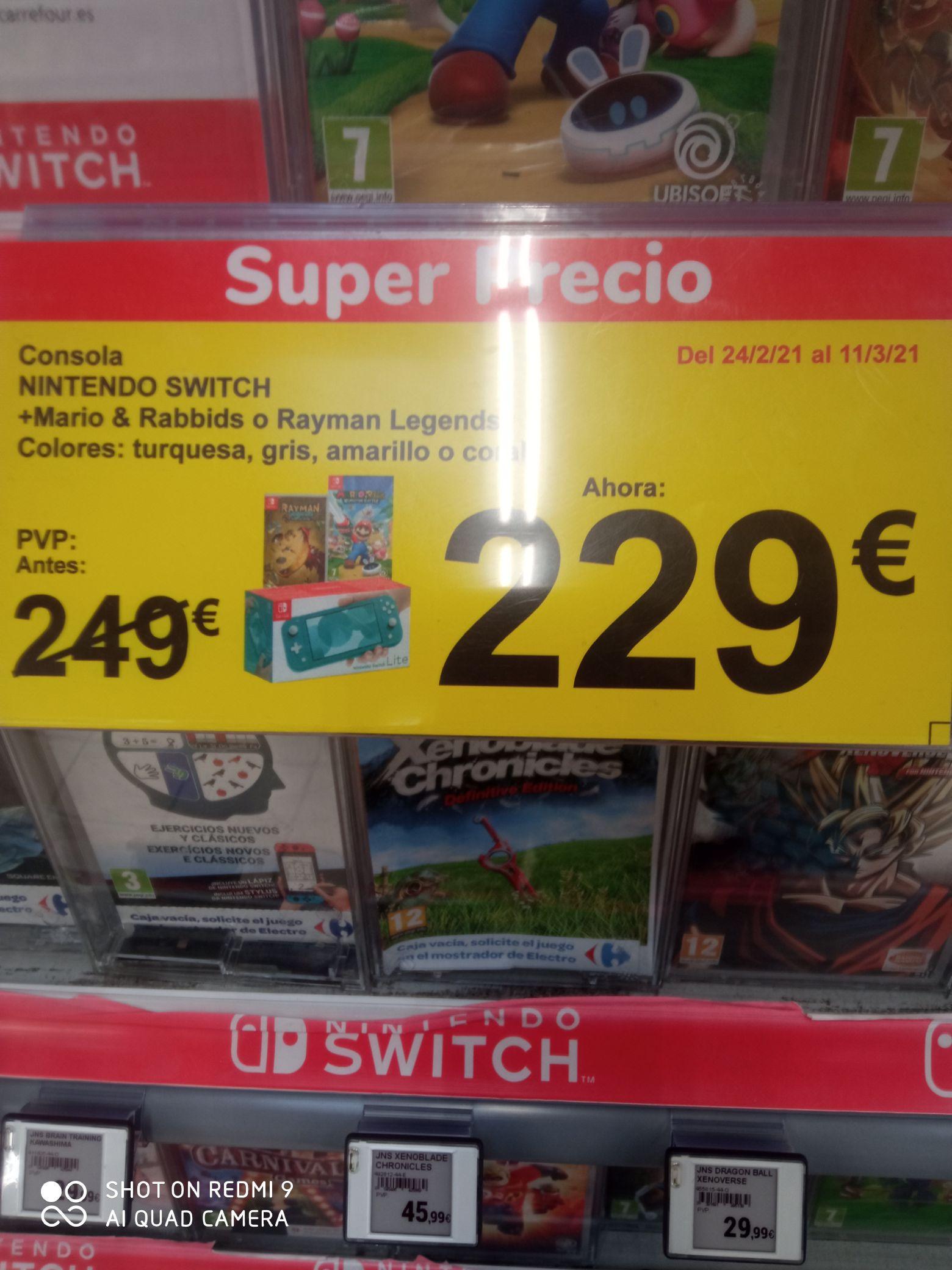 Nintendo switch lite mas 1 juego