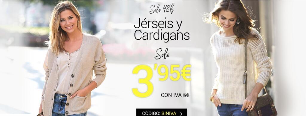 Jerséis y cárdigans a 3,95€