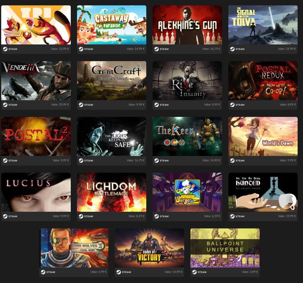 19 Juegos STEAM a 2.99€ [Mega Bundle Reloaded]