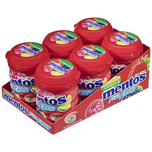Pack de 6 Unidades de Mentos Chicle Frutas Silvestres, Sin Azúcar - de 60 gr. (Total 360 gr.)