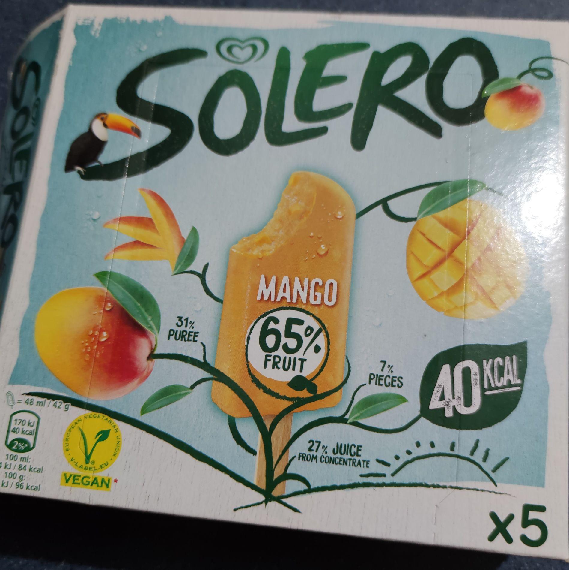 3 cajas de 5 helados mango Solero en Costco Getafe (Madrid)