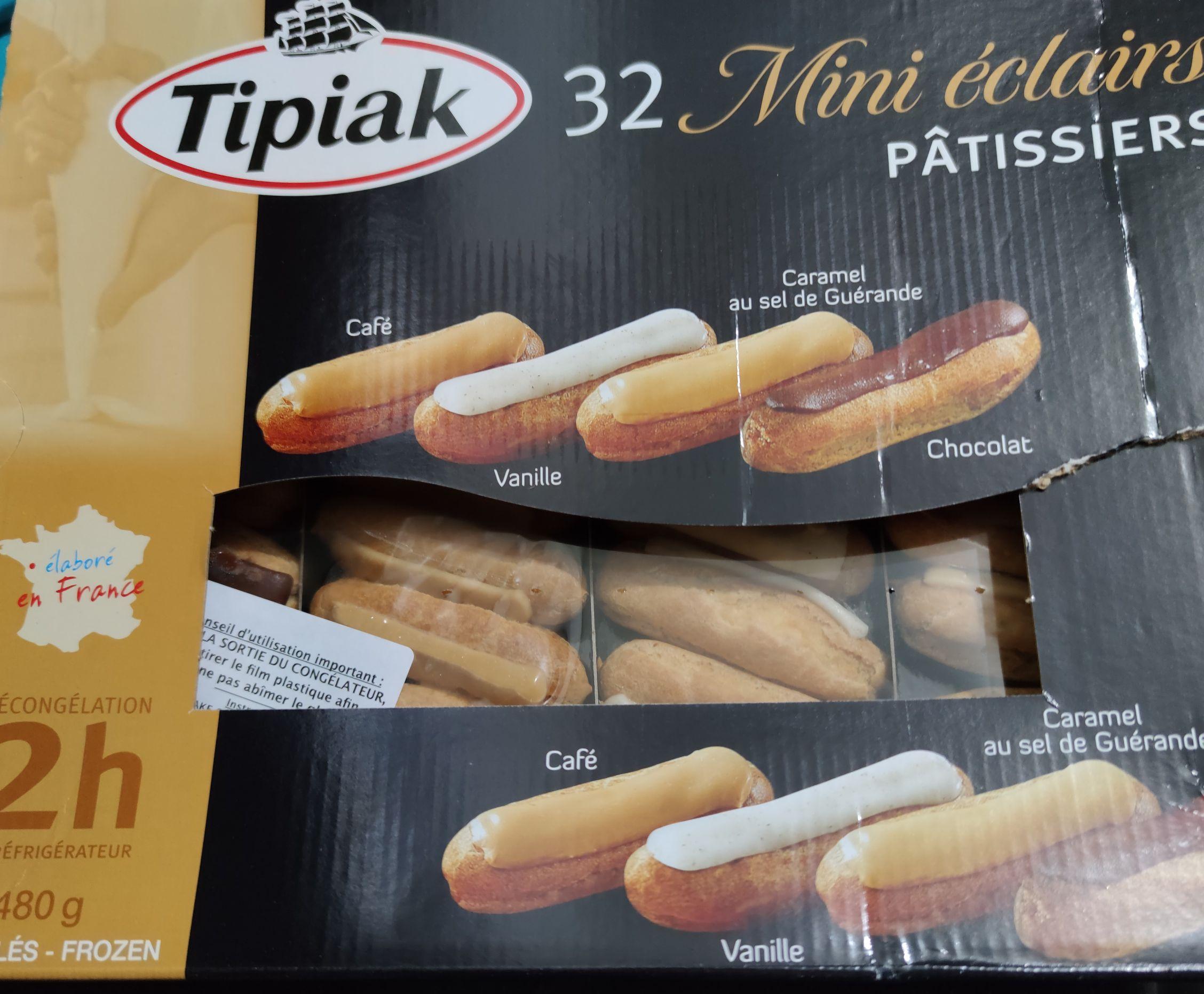 32 mini Eclair varios sabores