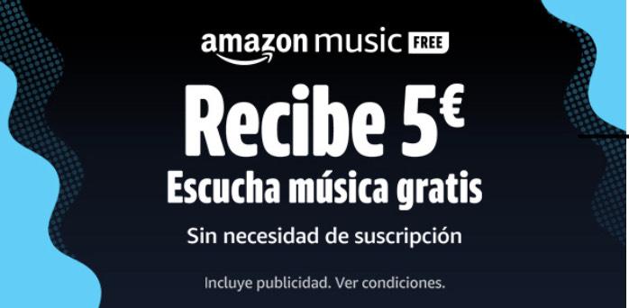 5€ por escuchar una canción completa en Amazon Music (Cuentas seleccionadas)