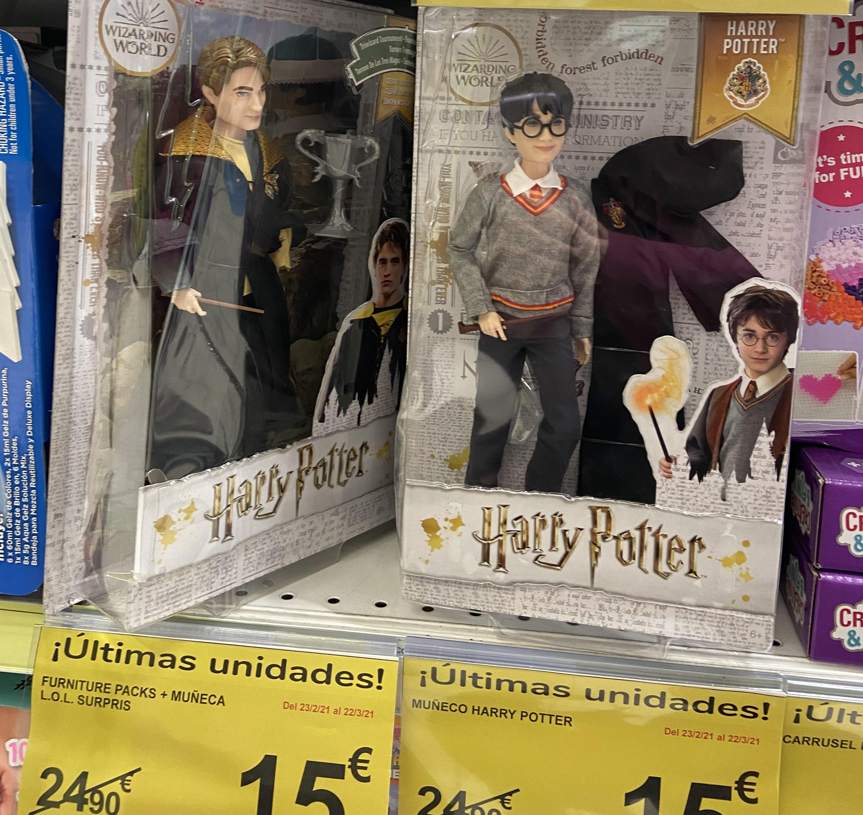 Muñecos Harry Potter en Carrefour Fuenlabrada
