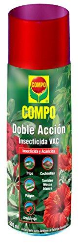Compo doble accion insecticida y acaricida, jardineria exterior domestica, 500ml