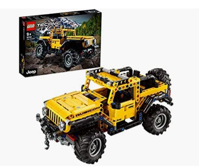 LEGO 42122 Technic Jeep Wrangler, Coche 4x4 de Juguete, Vehículo Off Roader SUV
