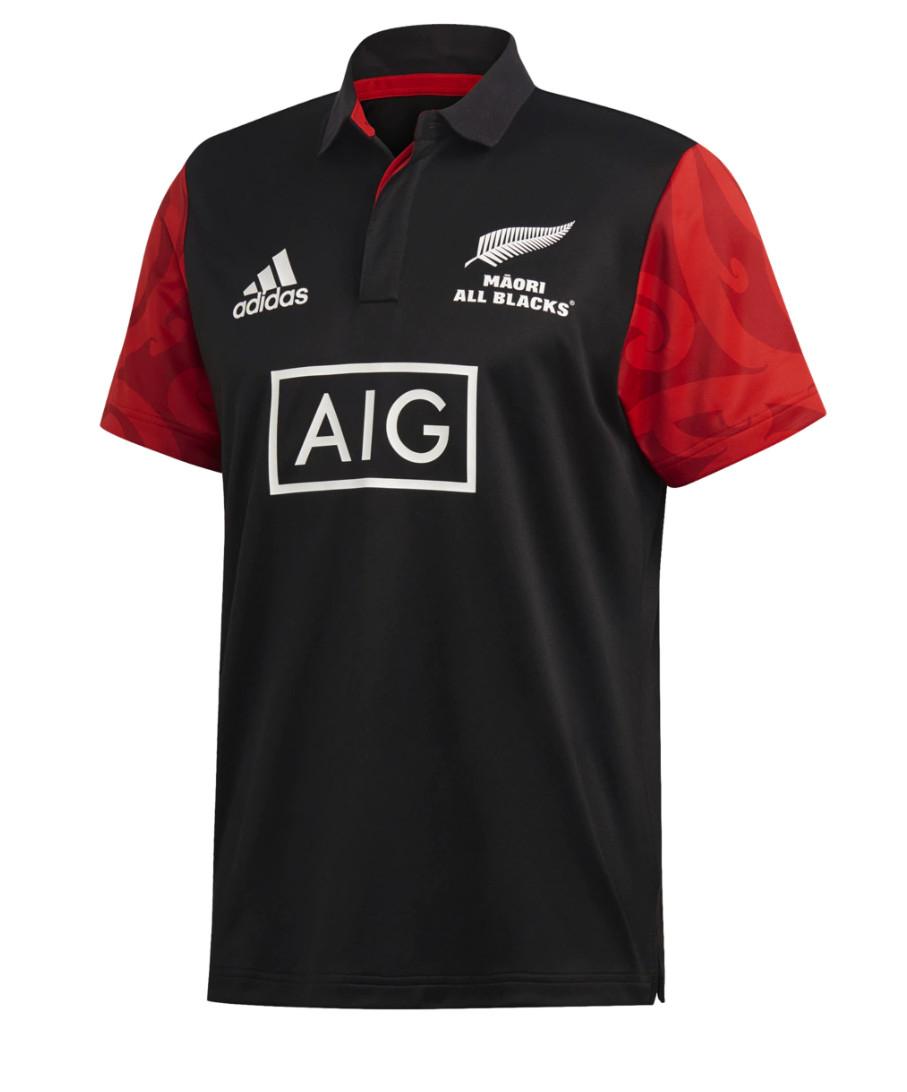 Polo para hombre Adidas Māori All Blacks en tallas S, M, L y XL