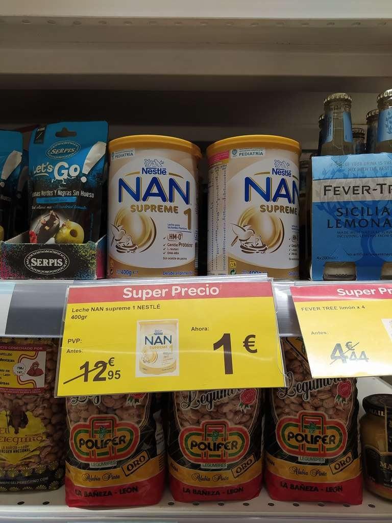 Leche Nan supreme Nestle en carrefour Santiago de Compostela