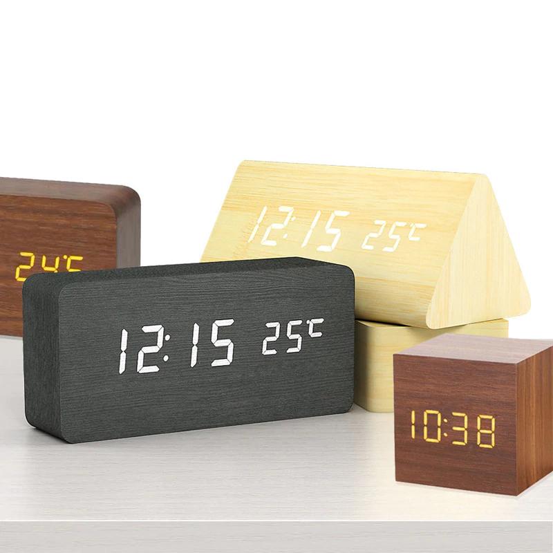 Reloj despertador efecto MADERA,pago por PAYPAL