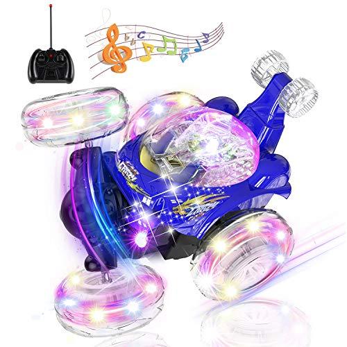 Coche Teledirigido Recargable con Luces de Colores e Interruptor de Música para Niños