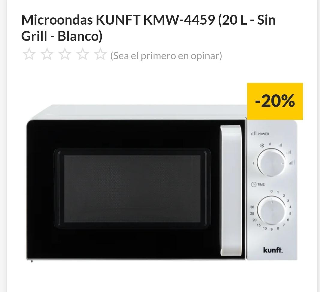 Microondas KUNFT KMW-4459 (20 L - Sin Grill - Blanco)