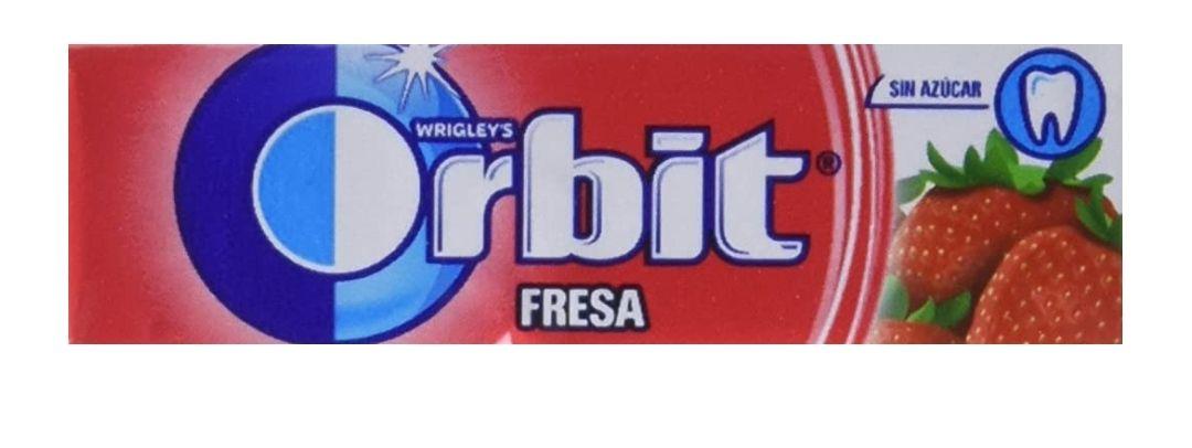 30 paquetes de chicles orbit sabor fresa